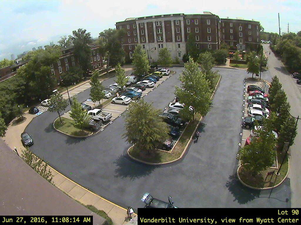 Freshman Commons, College Halls, view from Hobbs