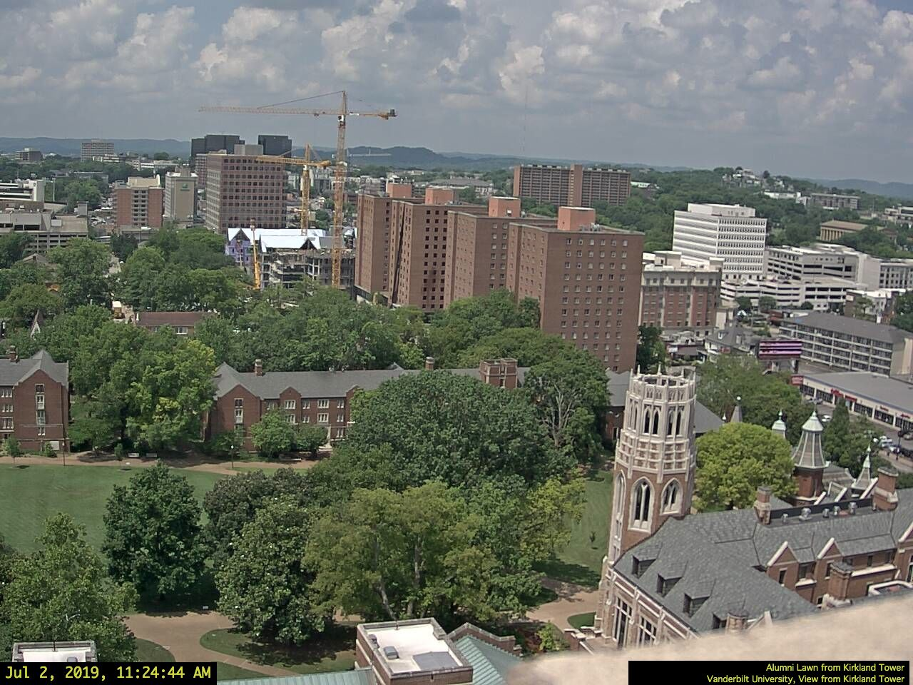 Vanderbilt Barnard, College Halls, view from Kirkland Tower